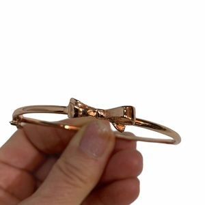 Kate Spade Rose Gold Bow Bracelet Bangle